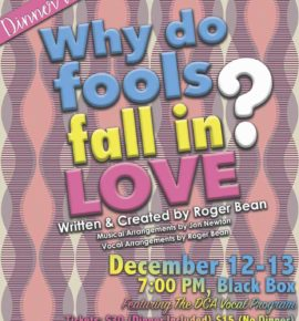 Why Do Fools Fall In Love? Dinner Theatre